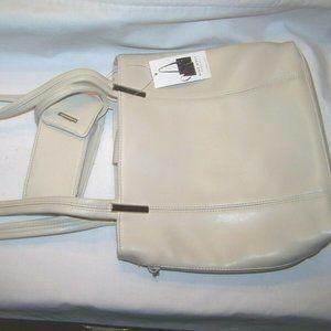 Nine West Off White Handbag Purse Phone Holder